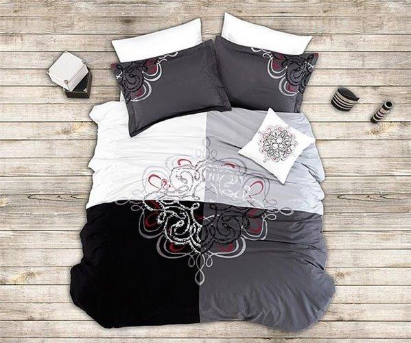 Сатиновое Постельное белье Евро 2 сп. Vip Saten Cotton Collection First Choice