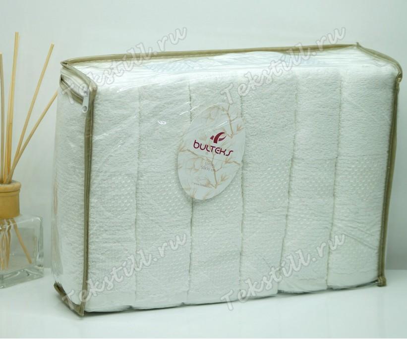 Махровые Лицевые Полотенца 50x90 см. 6 шт/уп. Ekose Beyaz - BULTEKS