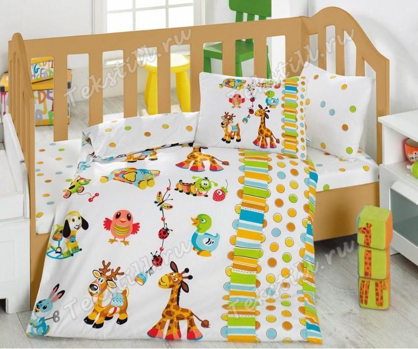 Детский Комплект Постельного белья Bebek Ranforce Oyun Bahcesi - cotton box