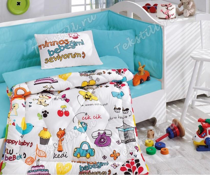 Детский Комплект Постельного белья Bebek Ranforce Uyku Seti Mutlu Bebek - cotton box