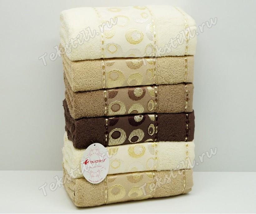 Махровые Лицевые Полотенца 50x90 см. 6 шт/уп. Melis Cafe - BULTEKS