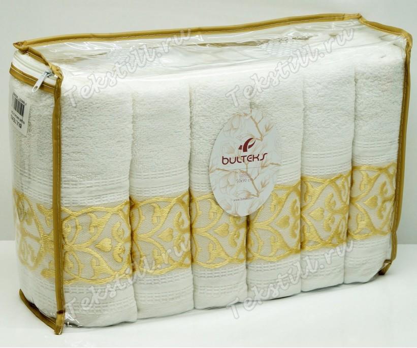Махровые Лицевые Полотенца 50x90 см. 6 шт/уп. Madalyon Gold - BULTEKS