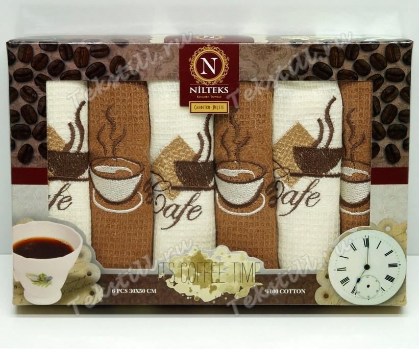 Набор Вафельных Полотенец 30x50 см. 6 шт/уп. Cotton - Nilteks