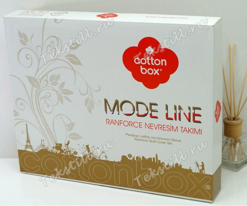 2 сп. Евро Комплект Постельного Белья Ранфорс MODE LINE Megan cotton box