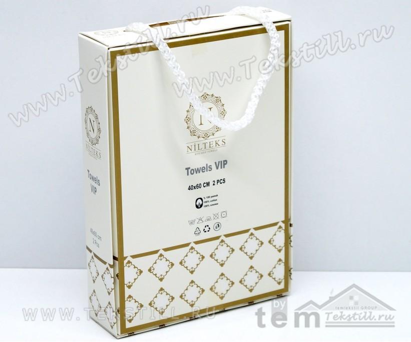 Вафельные Полотенца Кухонные Салфетки 40x60 см. 2 шт./уп. Vip - Nilteks