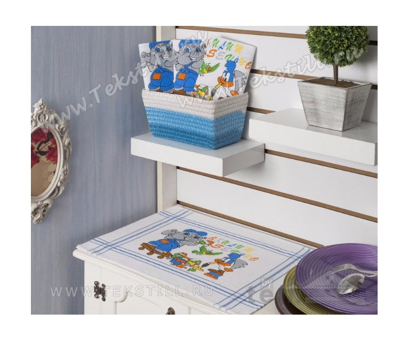 Вафельные Кухонные Полотенца 35x50 см. 12 шт./уп. BASKILI - Gozde