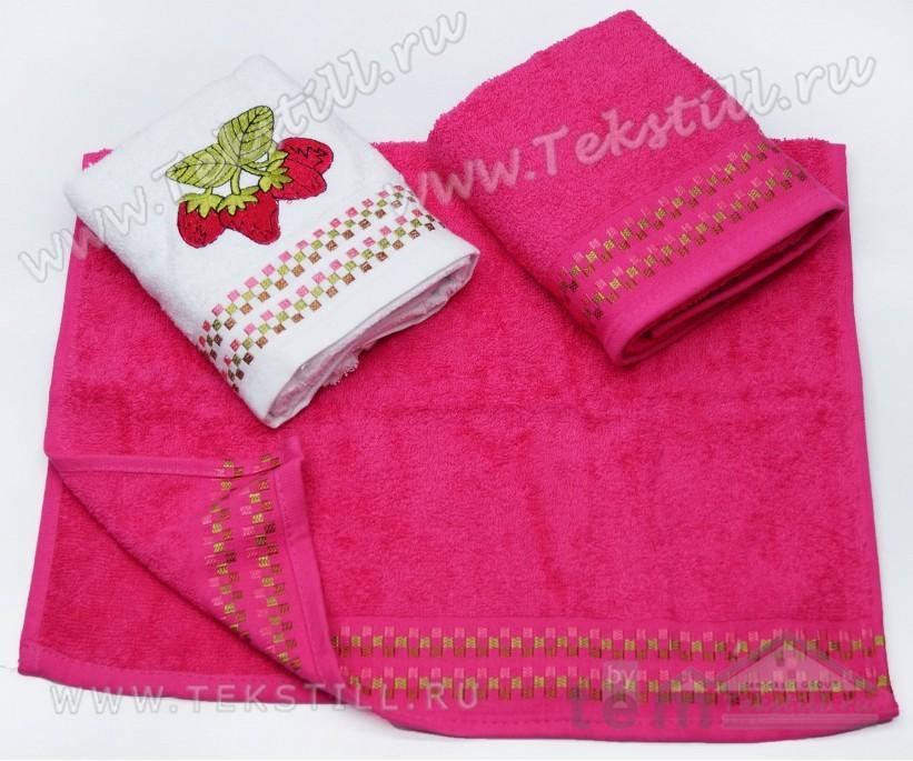 Махровые Кухонные Полотенца с Вышивкой 40x60 см. 3 шт./уп. FRUTA - DNZ