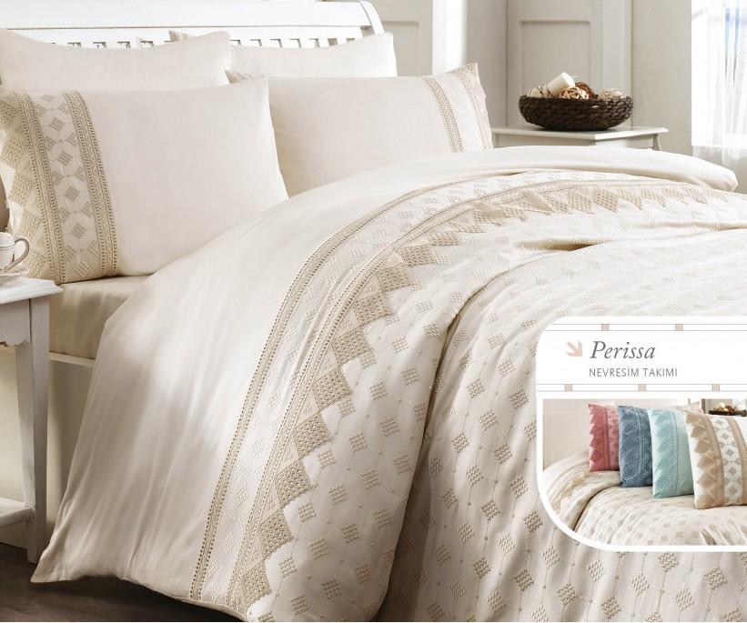 Комплект Постельного Белья с Вышивками Perissa - Royal Nazik