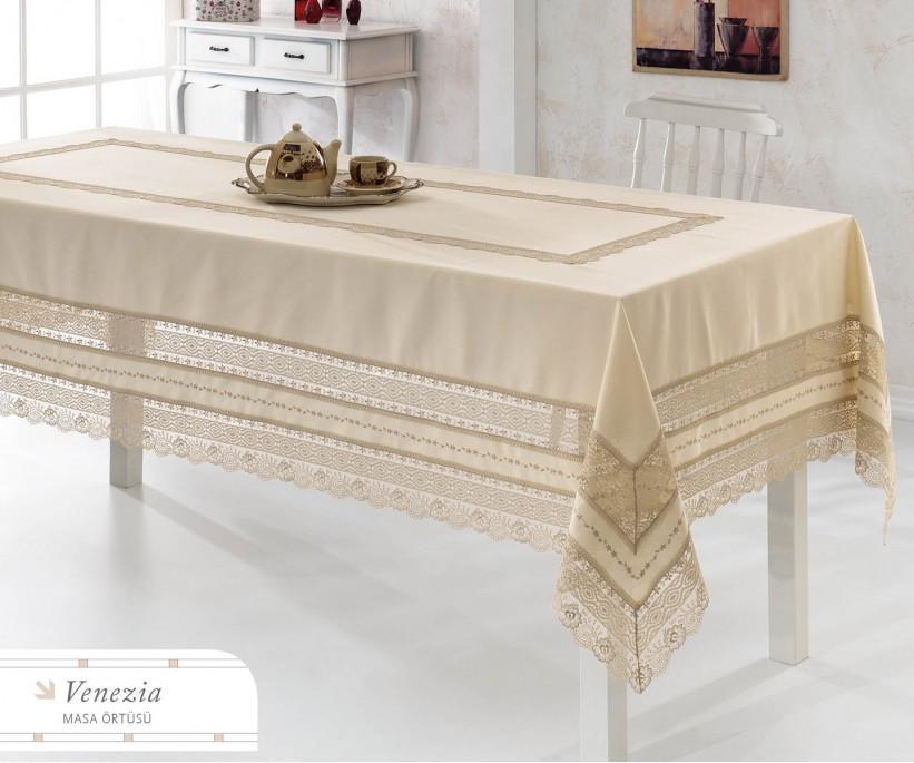 Скатерть с Декоративной Вышивкой 160x260 см Venezia - Royal Nazik