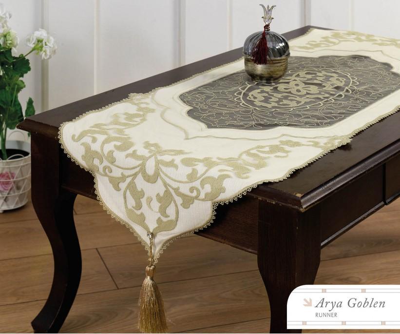 Раннер 45x140 см с Декоративной Вышивкой Arya Goblen - Royal Nazik