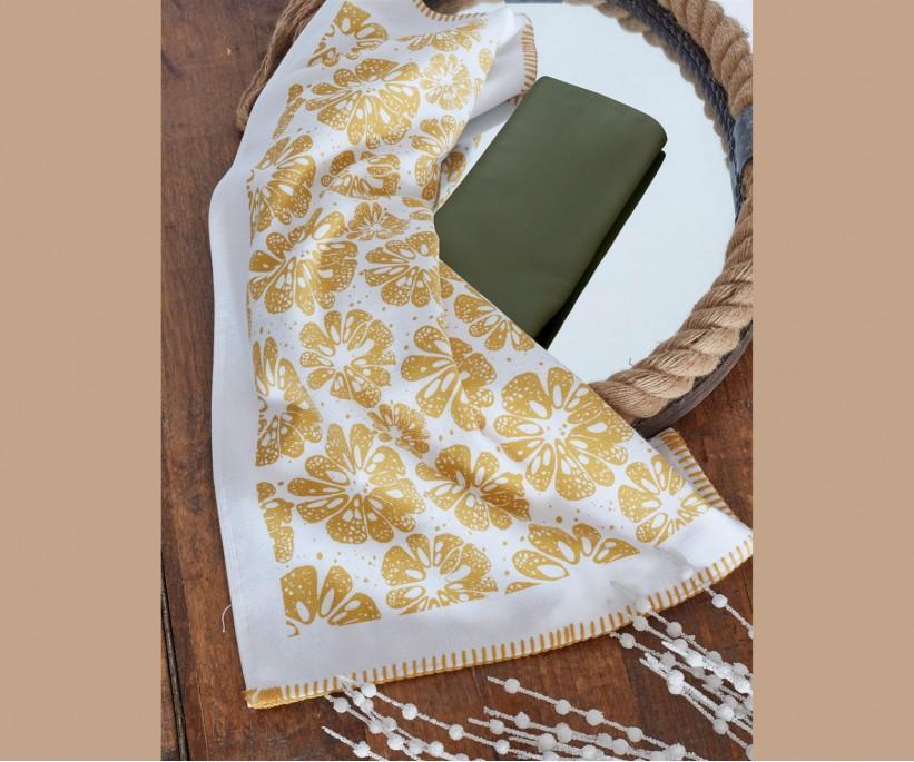 Махровые Кухонные Полотенца с Вышивкой 45x65 см 2 шт/уп - EcoCotton