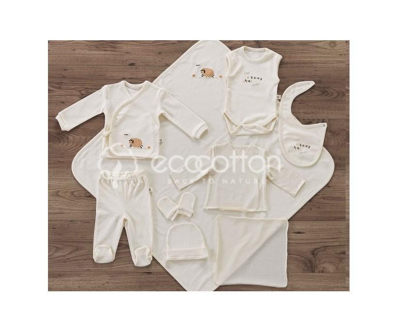 Трикотажный Подарочный Набор 10 предметов (0-3 годика) - EcoCotton