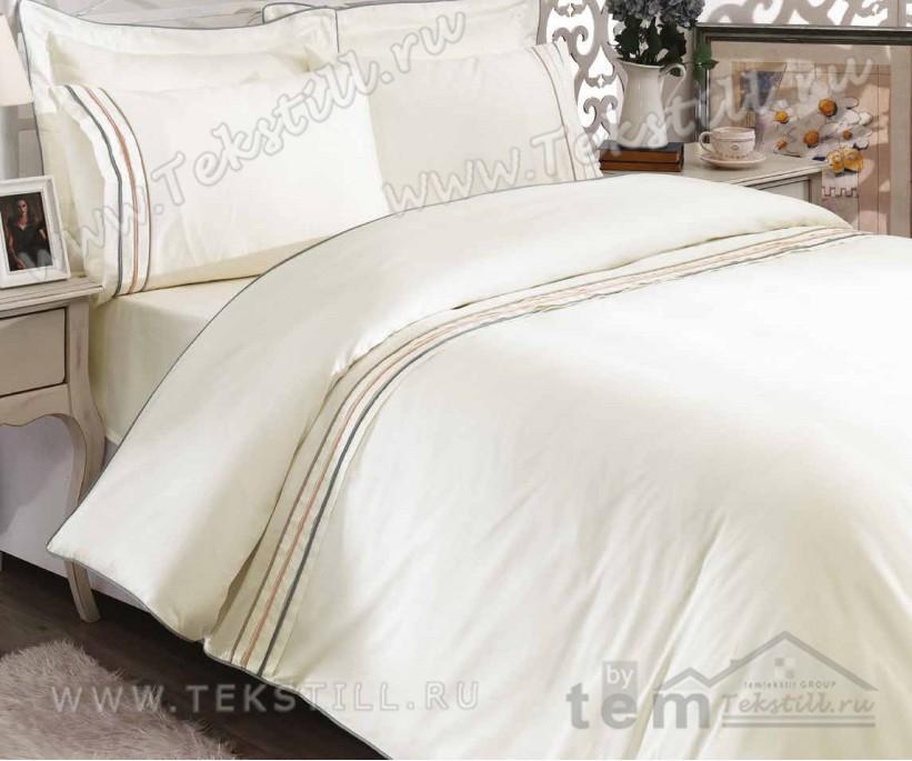 Комплект Постельного Белья с Вышивками Armoni 1 сп. - Royal Nazik