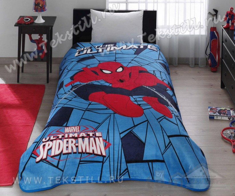 Плед 160x220 см. Spiderman Web - TAC