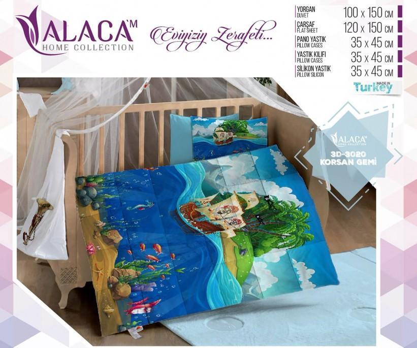 Детский Комплект Постельного Белья с Одеялом 3D - ALACA