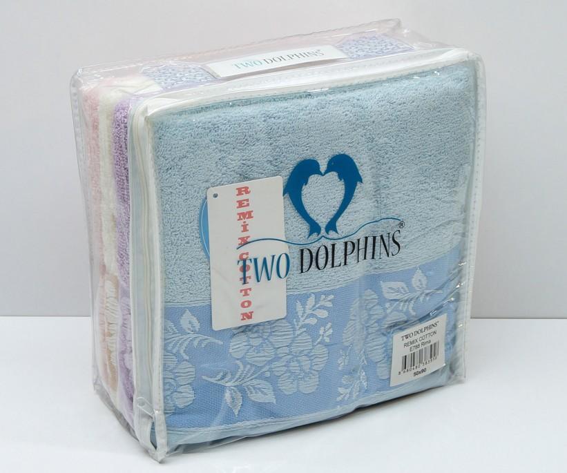 Махровые Банные Полотенца 70x140 см. 4 шт/уп. E788 Rima TWO DOLPHINS