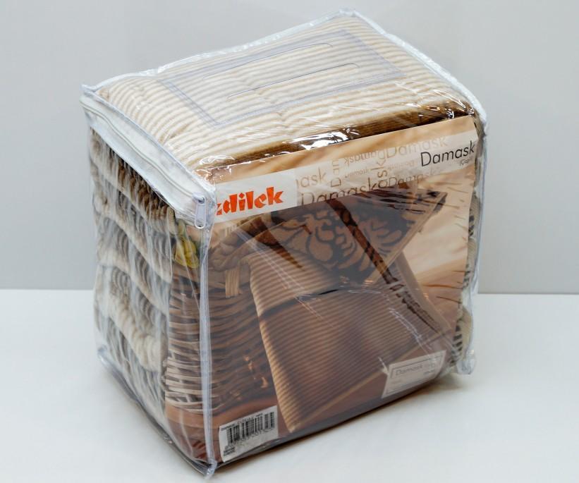 Велюровые Лицевые Полотенца 50x90 см. 6 шт/уп. Damask Cizgili Ozdilek