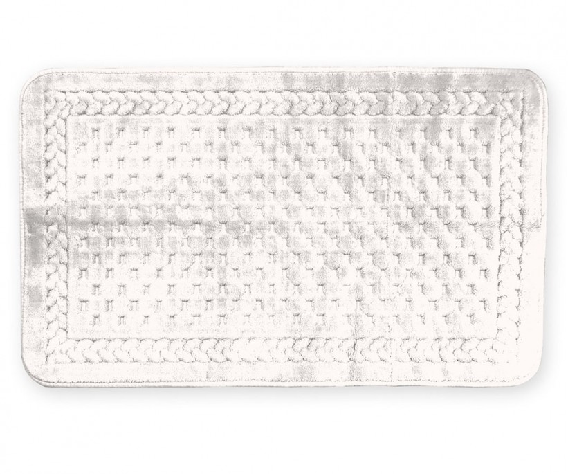 Ванный Коврик 70x150 см. Organik Lace Krem ecocotton