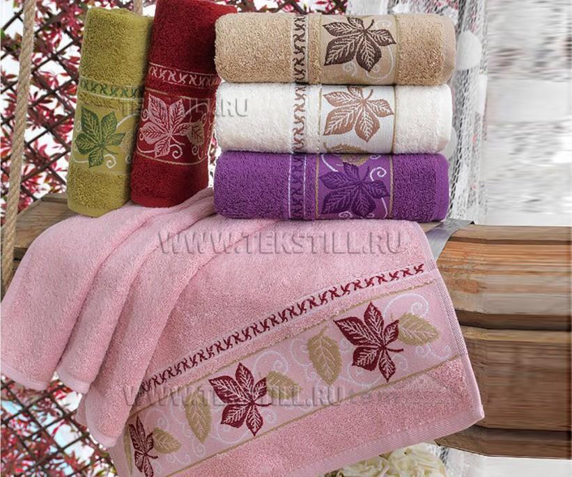 Махровые Жаккардовые Лицевые Полотенца 50x90 см. 6 шт/уп. Cotton PURRY