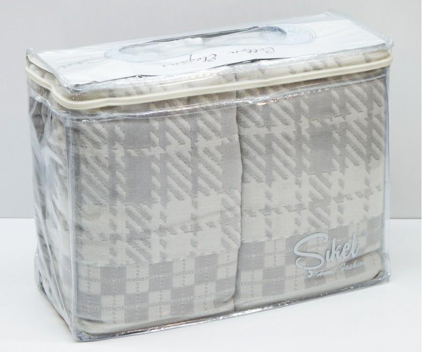 Велюровые Банные Полотенца 70x140 см. 6 шт/уп. Лиловый Wonderful Ekose - Sikel