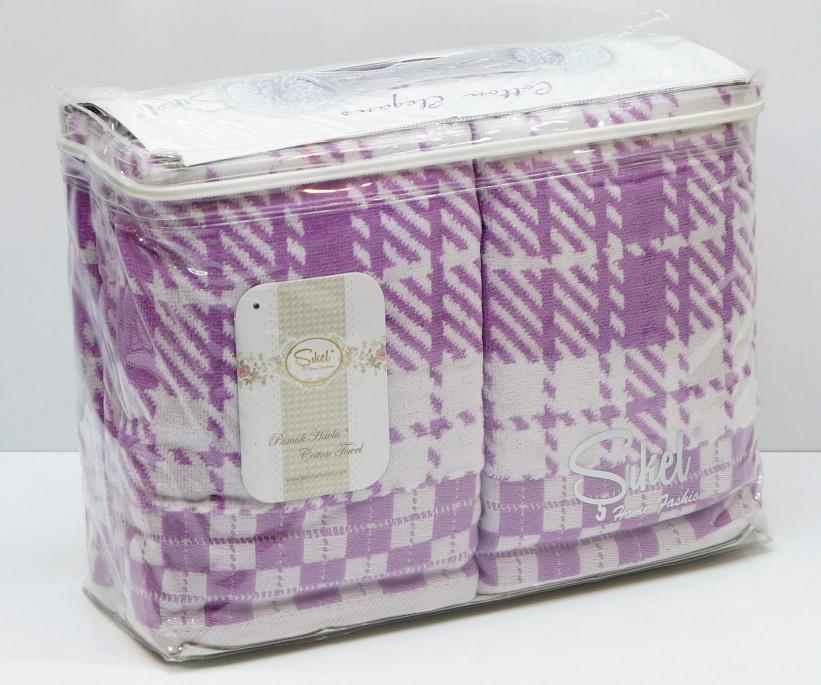 Велюровые Лицевые Полотенца 50x90 см. 6 шт/уп. Лиловый Wonderful Ekose - Sikel
