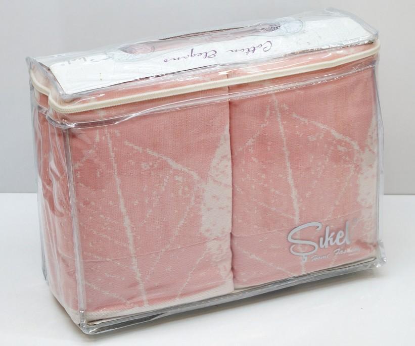 Велюровые Банные Полотенца 70x140 см. 6 шт/уп. Лиловый Wonderful Cinar - Sikel
