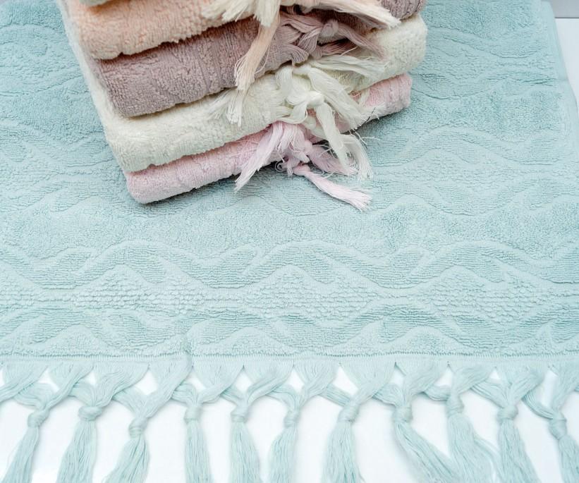 Махровые Лицевые Полотенца с Бахромой 50x90 см. 6 шт/уп. Cotton Marina - Sikel
