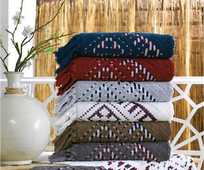 Махровые Лицевые Полотенца 50x90 см. 6 шт/уп. Cotton Selcuklu - Sikel