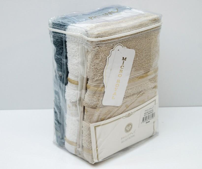 Махровые Банные Полотенца 70x140 см. 3 шт/уп. Micro Royal E812 Brenda PHILIPPUS