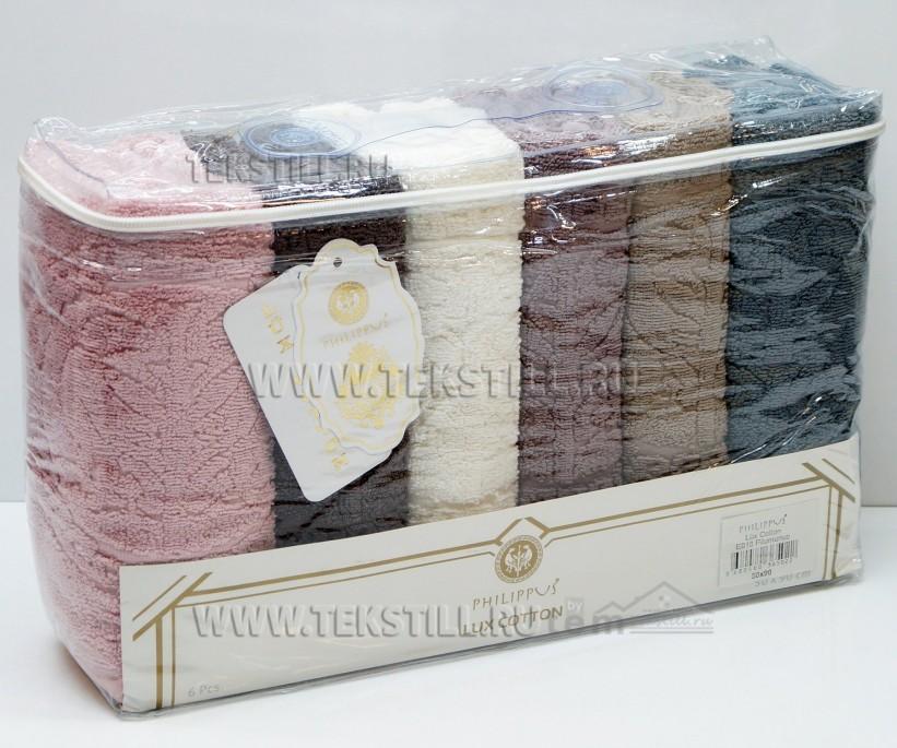 Махровые Лицевые Полотенца 50x90 см. 6 шт/уп. Lux Cotton E818 Pilumunus - PHILIPPUS