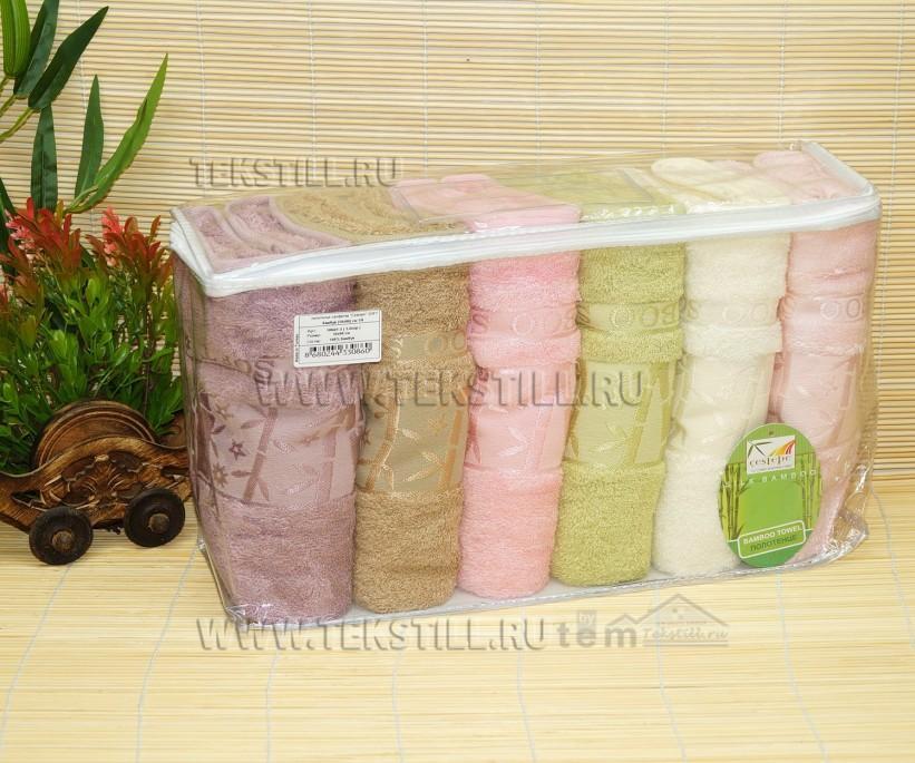 70x140 см. 6 шт/уп. Бамбуковые Банные Полотенца Bamboo Soft - Cestepe