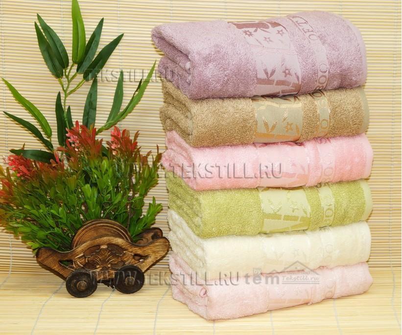 50x90 см. 6 шт/уп. Бамбуковые Лицевые Полотенца Bamboo Soft - Cestepe