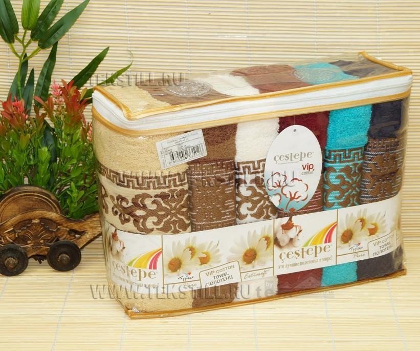 70x140 см. 6 шт/уп. Махровые Банные Полотенца Ottoman Cotton - Cestepe