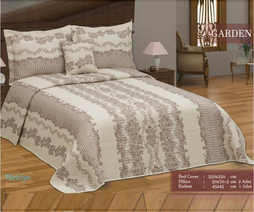 Жаккардовое Покрывало 250x250 см с 3-мя Наволочками GARDEN - FIRST Elegant
