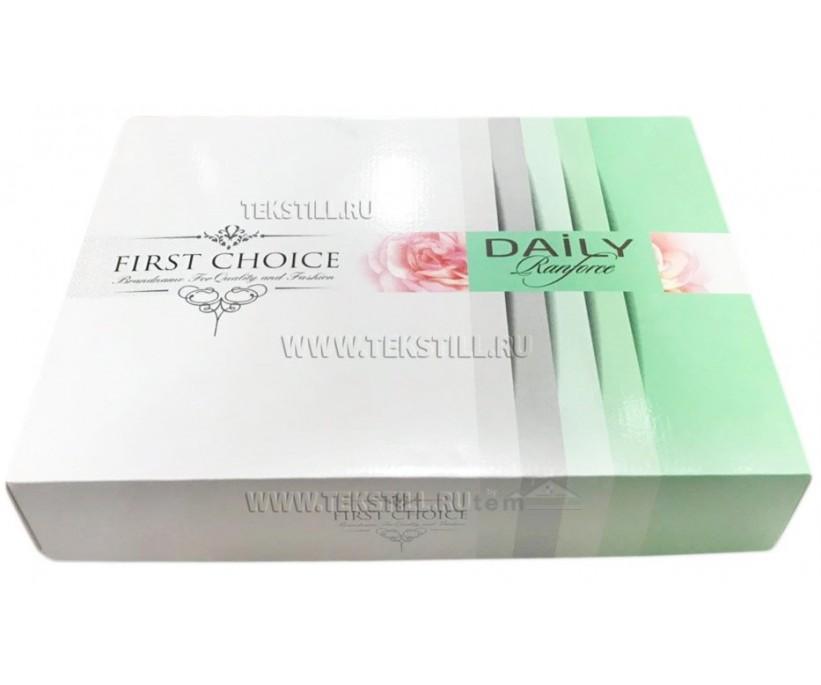 Постельное Белье Ранфпрс Евро 2 сп. DAİLY Ranforce - First Choice