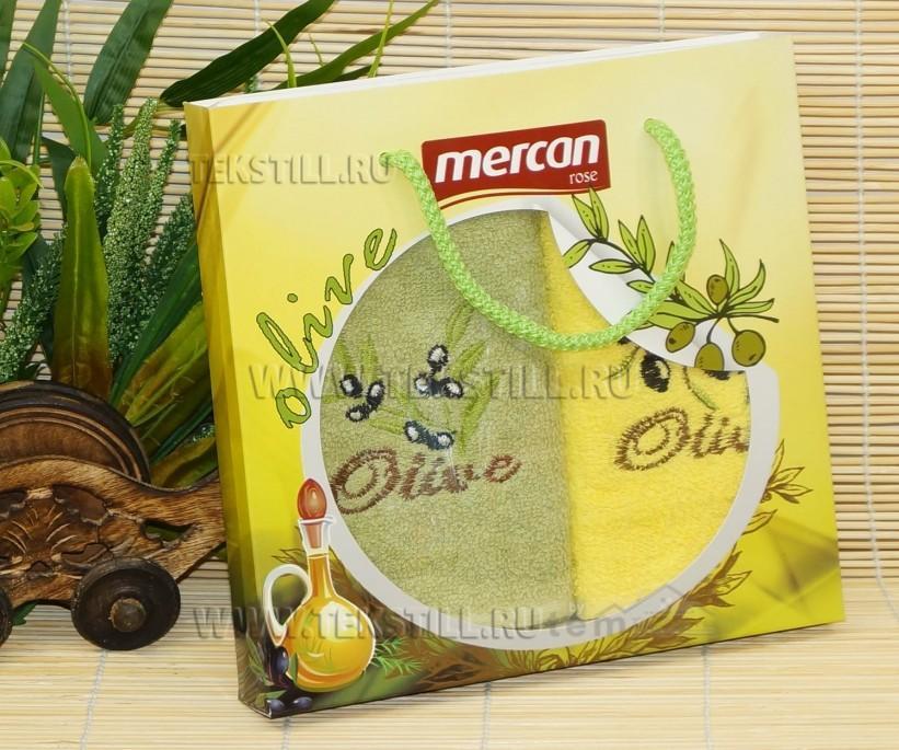Махровые Полотенца с Вышивкой 30x50 см. 2 шт./уп. Oliva - GOLD SOFT LIFE