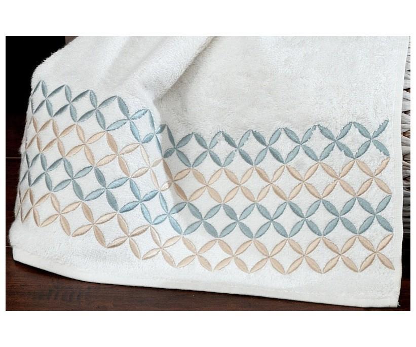 Бамбуковое Полотенце с Вышивкой 50x90 см 1 шт/уп. Selçuklu - Royal Nazik