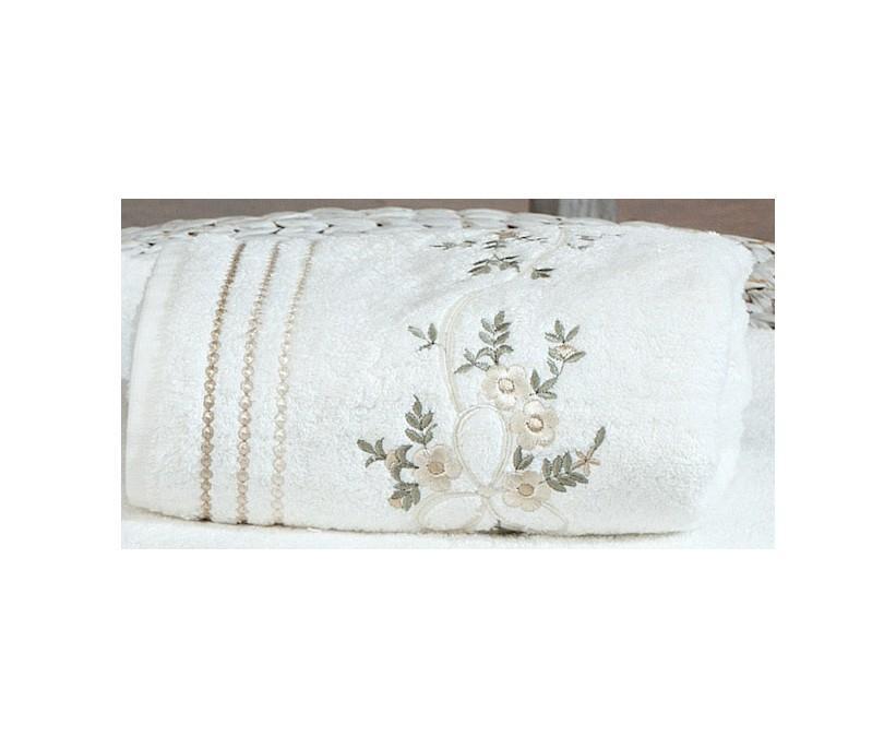 Бамбуковое Полотенце с Вышивкой 50x90 см 1 шт/уп. Begonya - Royal Nazik