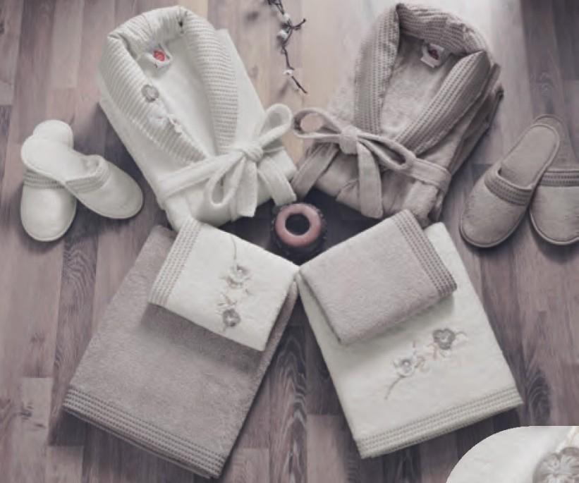 Бамбуковый Набор (8 предметов) Семейный с Халатами Bamboo Gipurlu Aile Bornoz Seti - Cotton Box
