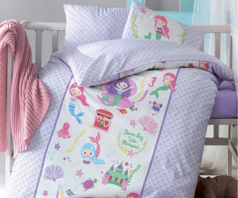 Постельное белье из ранфорса для новорожденных Bebek Ranforce Deniz Kizi - cotton box