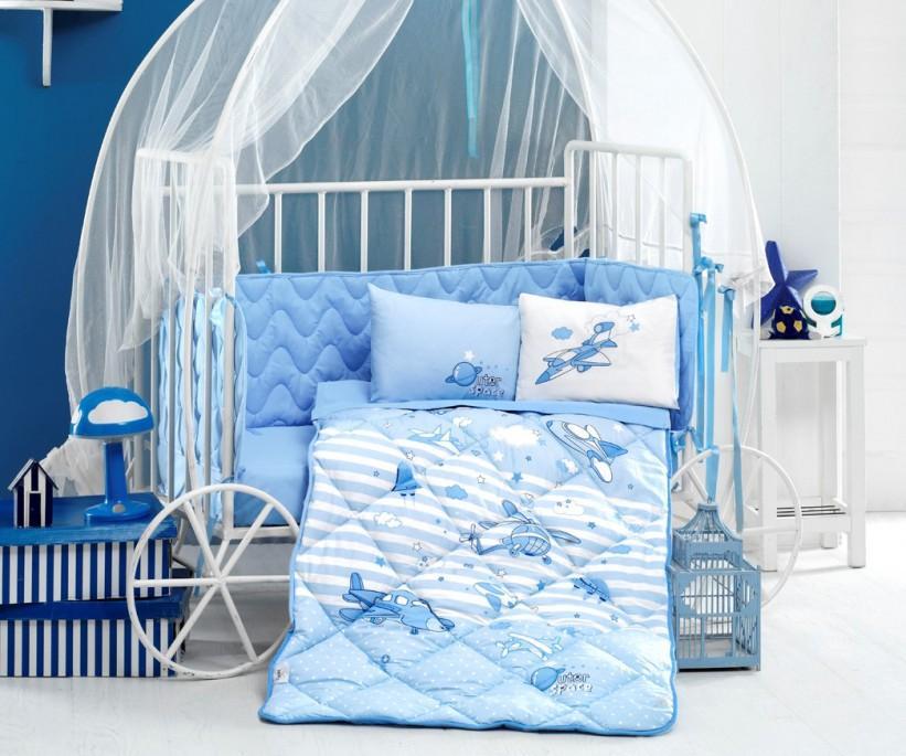 Детский КПБ с Одеялом для Новорожденных Ранфорс Bebek - Clasy