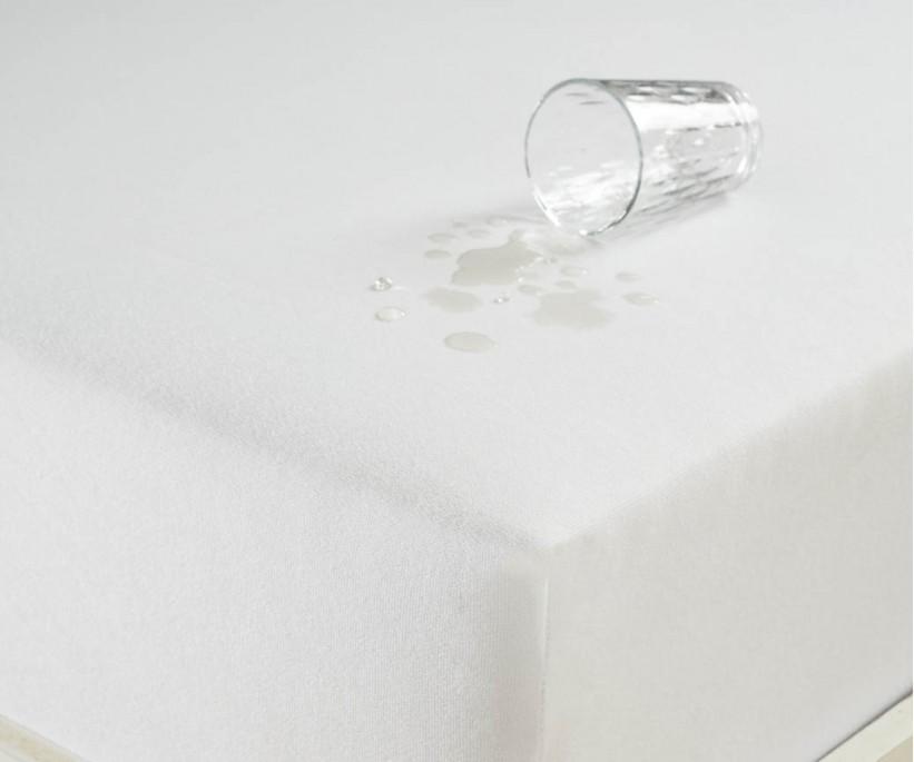 Sıvı Geçirmez Lastikli Çarşaf Çift Kişilik 160x200cm Beyaz