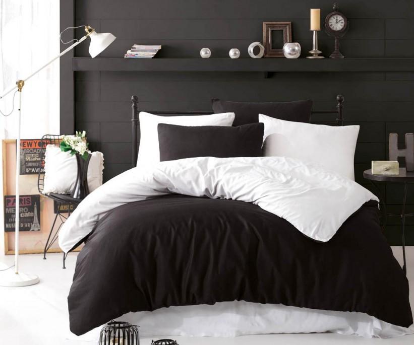 Paint Nevresim Takımı Çift Kişilik Mix Siyah-Beyaz