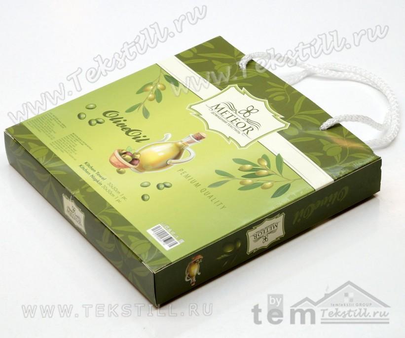 Набор Полотенец Махровый с Вафельным 30x50 см. 2 шт./уп. Olive Oil - METEOR