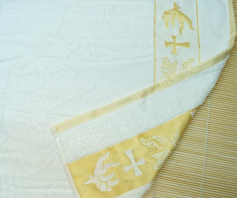 50x90 см 12 шт/уп Крестильные Велюровые Жаккардавые Полотенца 100% Cotton
