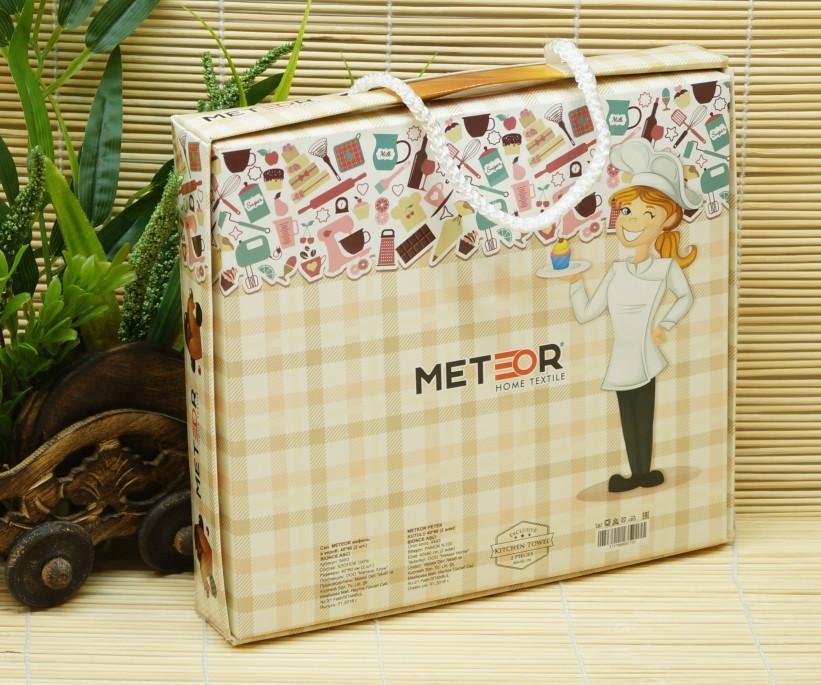 Набор Вафельных Полотенец 40x60 см 2 шт/уп (Рисунки Ассорти) Meteor Mercan