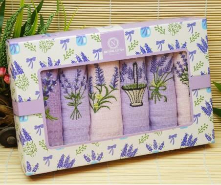 Кухонные Вафельные Полотенца Салфетки 40x60 см. 6 шт/уп. Lavanta - Nilteks