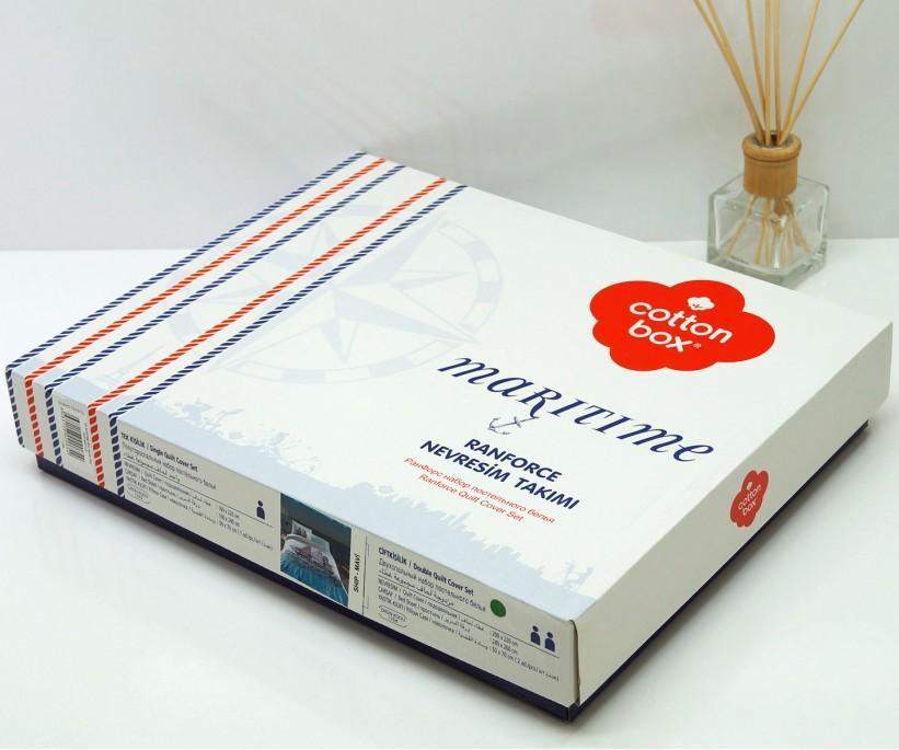 Комплект Постельного Белья 1 сп. Ранфорс Maritime Pusla Mavi - cotton box