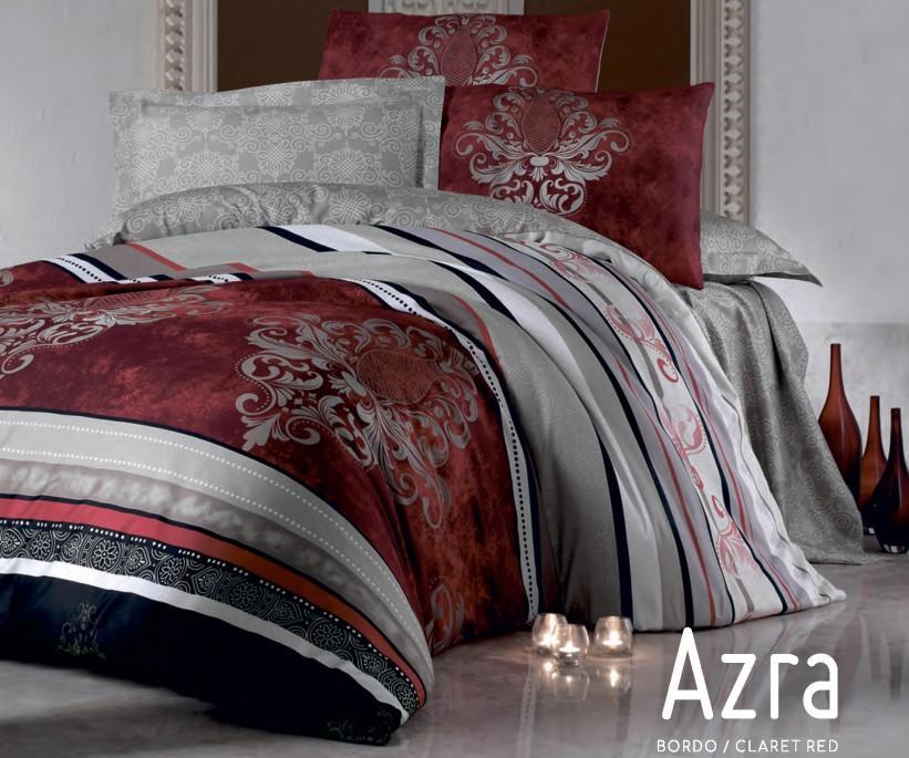 Комплект Постельного Белья ЕВРО Сатин Royal Saten Azra - cotton box