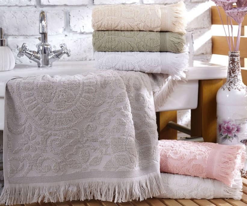 Махровые Лицевые Полотенца с Бахромой 50x90 см. 6 шт/уп. Cotton SIDE - Sikel